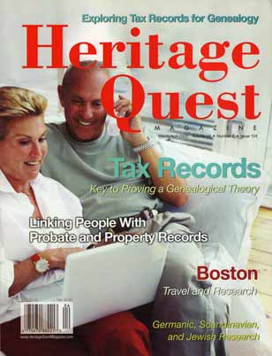 Heritage Quest Magazine 104 - Mar/Apr 2003