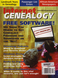 Internet Genealogy – August/September 2010