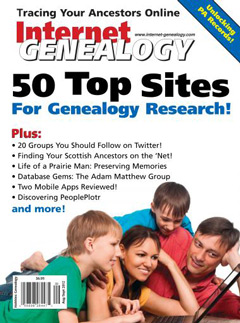 Internet Genealogy – August/September 2012
